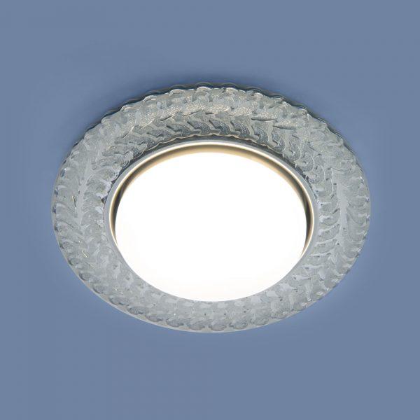 Встраиваемый точечный светильник с LED подсветкой 3027 GX53 CL прозрачный 1