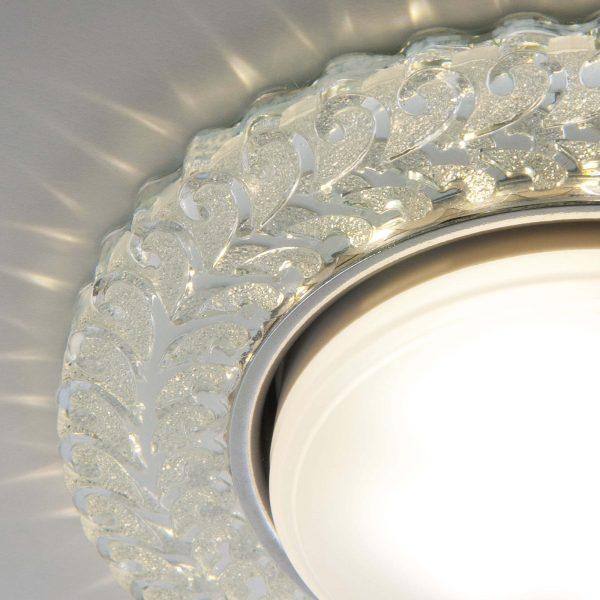 Встраиваемый точечный светильник с LED подсветкой 3027 GX53 CL прозрачный 2