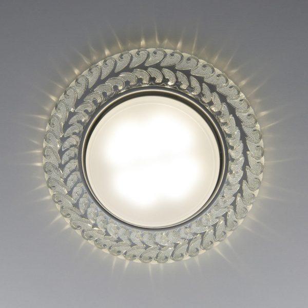 Встраиваемый точечный светильник с LED подсветкой 3027 GX53 CL прозрачный 3
