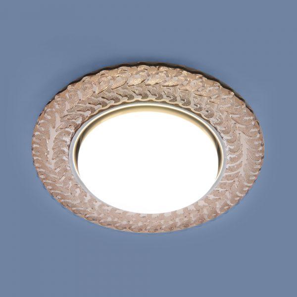 Встраиваемый точечный светильник с LED подсветкой 3027 GX53 GC тонированный 1