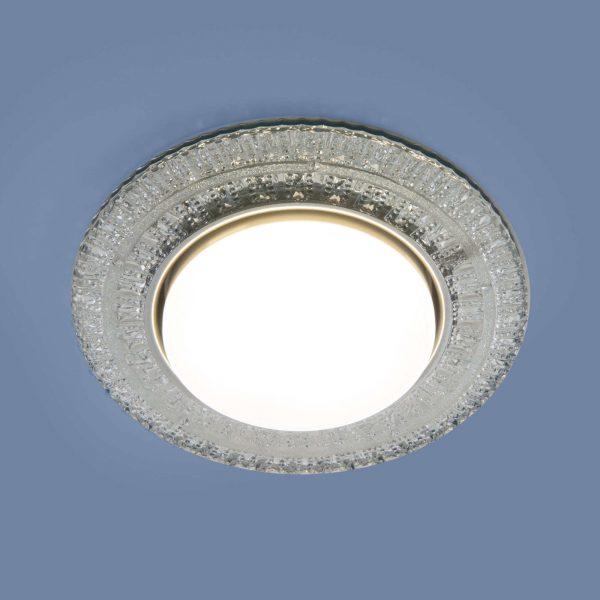 Встраиваемый точечный светильник с LED подсветкой  3028 GX53 CL прозрачный 1