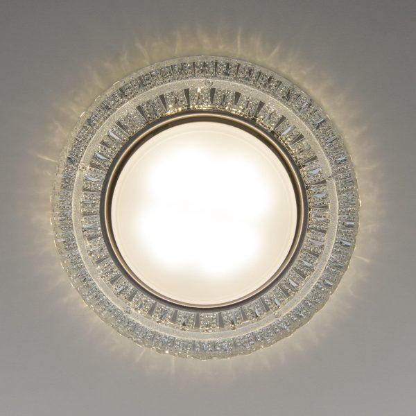 Встраиваемый точечный светильник с LED подсветкой  3028 GX53 CL прозрачный 2