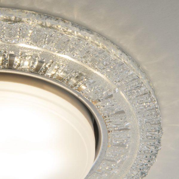 Встраиваемый точечный светильник с LED подсветкой  3028 GX53 CL прозрачный 3