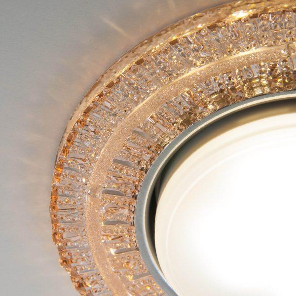 Встраиваемый точечный светильник с LED подсветкой 3028 GX53 GC тонированный 1