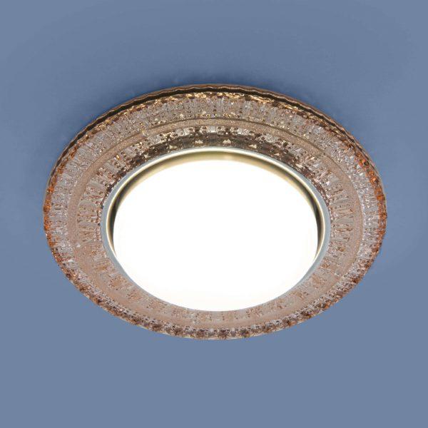 Встраиваемый точечный светильник с LED подсветкой 3028 GX53 GC тонированный 3