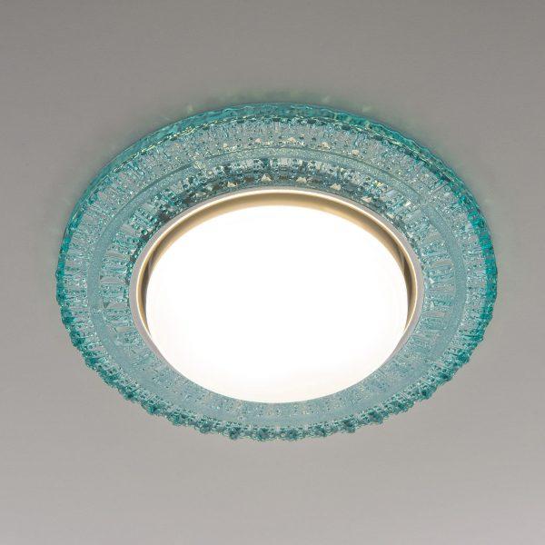 Встраиваемый точечный светильник с LED подсветкой 3028 GX53 TF тиффани 2