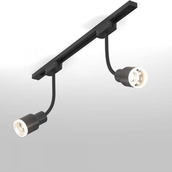 Трековый светодиодный светильник для однофазного шинопровода Molly Flex Черный