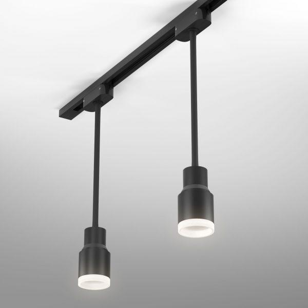 Трековый светодиодный светильник для однофазного шинопровода Molly Flex Черный 7W 4200K LTB38 1