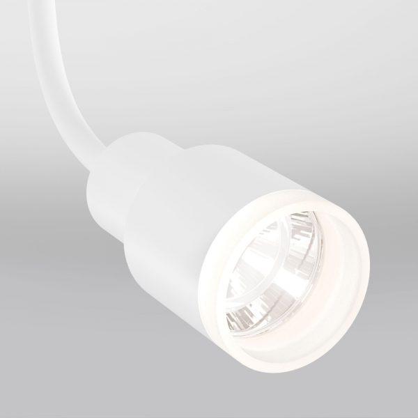 Трековые светильники купить белые на упругой ножке
