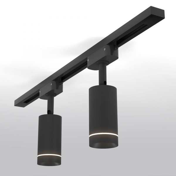 Трековый светодиодный светильник для однофазного шинопровода Glory Черный
