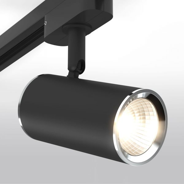 Трековый светильник для однофазного шинопровода Rutero GU10 Черный