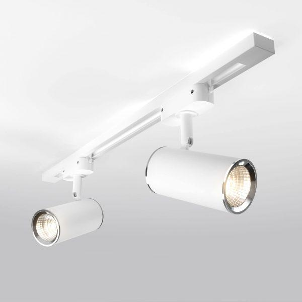 Трековый светильник для однофазного шинопровода Rutero GU10 Белый