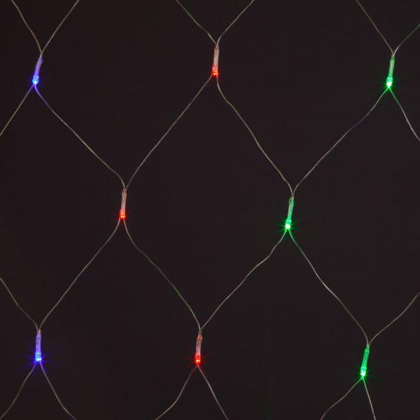 Праздничная гирлянда сеть белый 1,5*1,5м IP20
