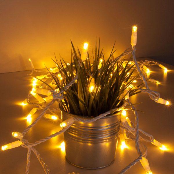 Праздничная гирлянда теплый свет