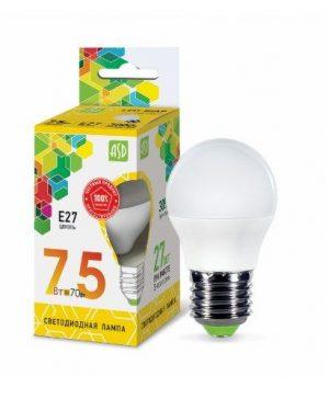 ЛАМПА СД LED-ШАР-STD 7.5ВТ 230В Е27