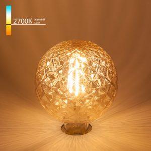 Декоративная лампа эдисона с ривленым стеклом купить с