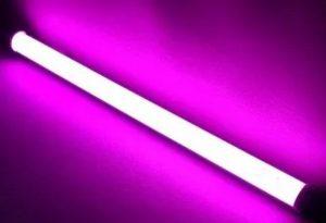 линейный светодиодный светильник купить линия фиолетовый свет