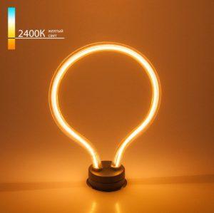 Купить декоративную лампу контуром тёплый свет Art filament 4W 2400K E27