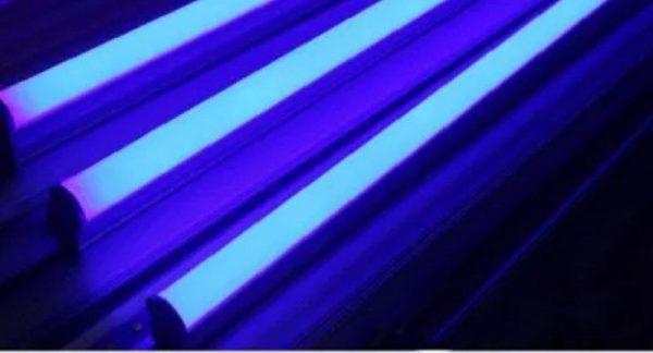 линейный светодиодный светильник с выключателем синий свет купить