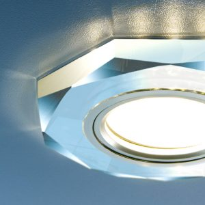 Купить встраиваемый потолочный светильник серебрянного цвета с подсветкой купить в минске