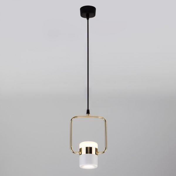 Подвесной потолочный светодиодный светильник 50165/1 LED золото/белый