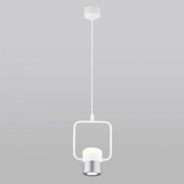 Накладной потолочный светодиодный светильник точечный 50165/1 LED белый/серебро