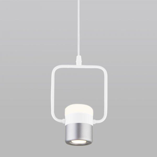 Накладной потолочный светодиодный светильник 50165/1 LED белый/серебро
