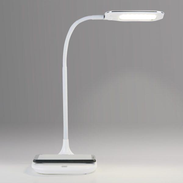 Настольный светодиодный светильник 80419/1 белый с беспроводной зарядкой