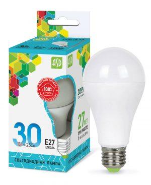 Лампа светодиодная LED-ГРУША-standard 30Вт 230В Е27 2700Лм ASD