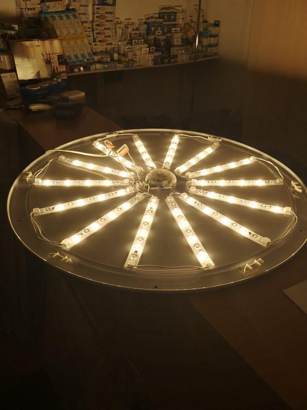 Потолочный управляемый светильник Cатурн, мощностью 100w теплый свет