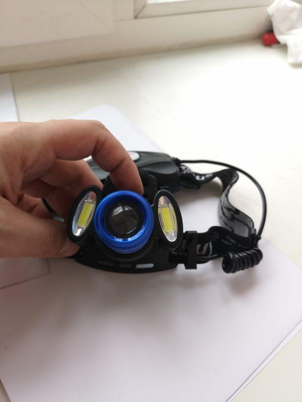 Резинки и комплектация налобного фонаря с рядом режимов