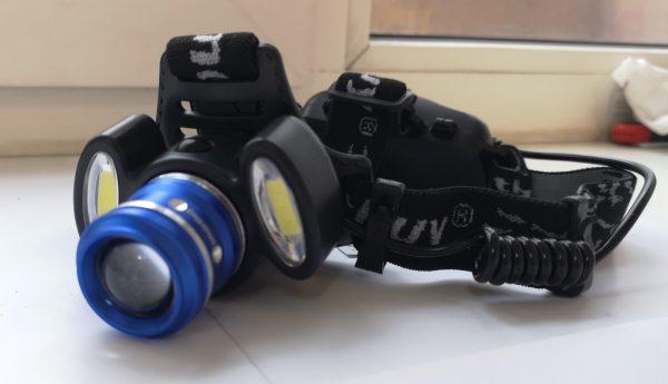 Линзы и светодиодные элементы налобного фонаря