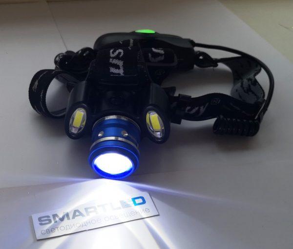 Как светит налобный аккумуляторный фонарь режим дальнего света