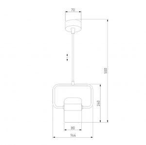Размеры накладного светодиодного светильника точечного накладной потолочный светодиодный светильник 50165/1 LED хром/белый