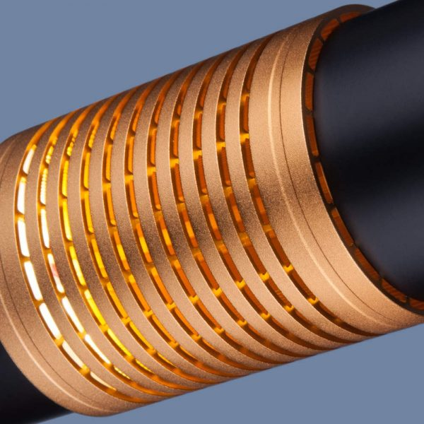 Купить накладной потолочный светодиодный светильник DLN001 MR16 9W 4200K черный матовый/золото
