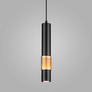 Накладной потолочный светодиодный светильник DLN001 MR16 9W 4200K черный матовый/золото