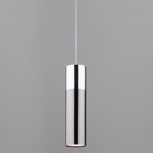 Купить накладной потолочный светодиодный светильник 50135/1 LED хром/черный жемчугм