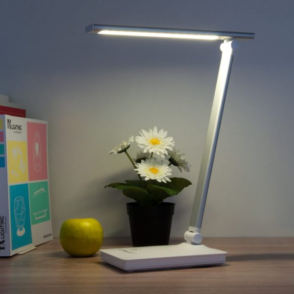 Настольный светодиодный светильник 80423/1 серебристый