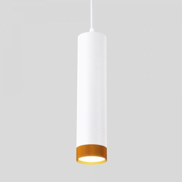 Подвесной потолочный светодиодный светильник 50164/1 LED белый/золото