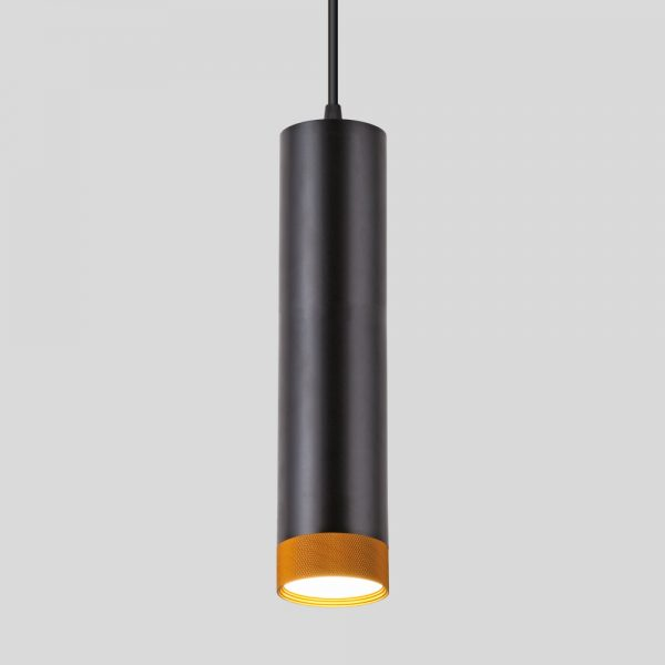 Подвесной потолочный светодиодный светильник 50164/1 LED черный/золото