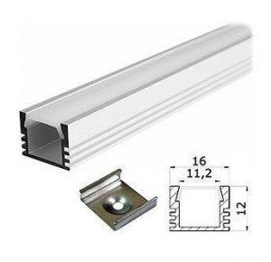 Профиль алюминиевый 16х12 для светодиодной ленты купить в Минске