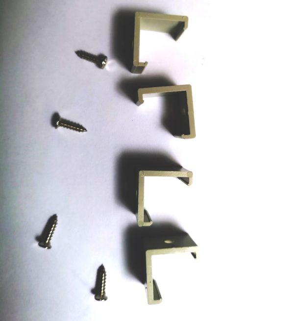 Крепление углового профиля для светодиодной ленты