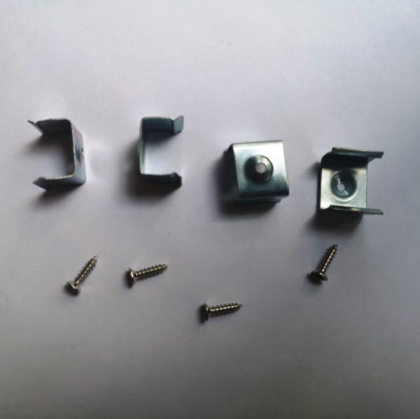 Профиль алюминиевый (короб) для светодиодной ленты тонкий узкий крепление в комплекте