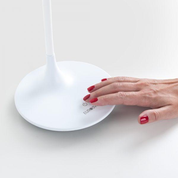 Настольный светодиодный светильник 80422/1 белый сенсорные элементы