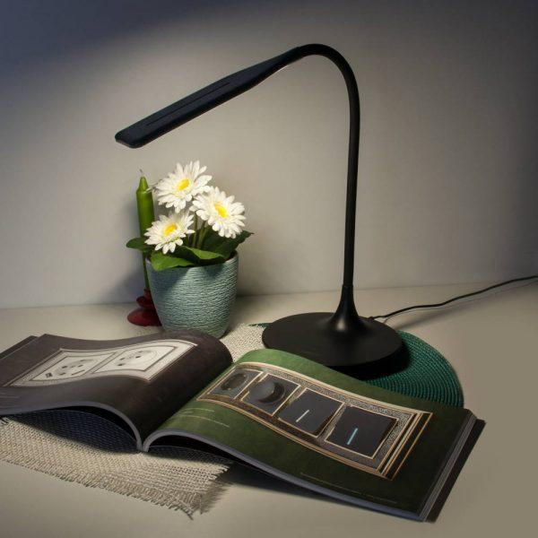 Настольный светодиодный светильник 80422/1 черный сенсорное управление