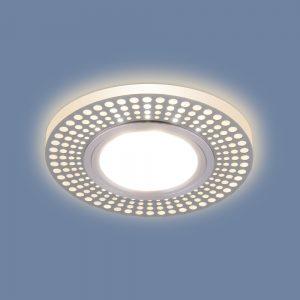Встраиваемый потолочный светильник со светодиодной подсветкой 2231 MR16 CH хром