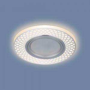 Потолочный светильник встраиваемый со светодиодной подсветкой 2232 MR16 CH хром