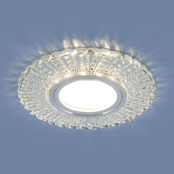 Встраиваемый потолочный светильник со светодиодной подсветкой 2233 MR16 CL прозрачный