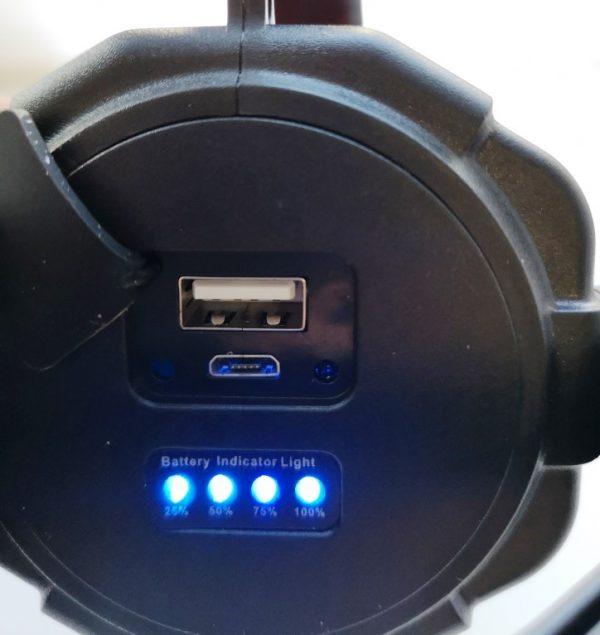 Фонарь - прожектор 5+3W павербанк