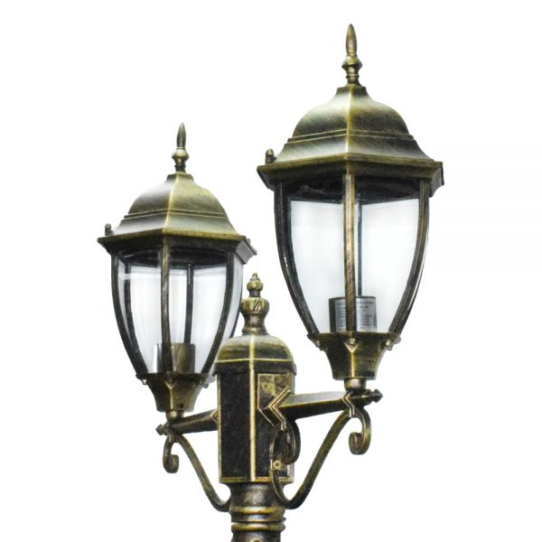 Светильник садово-парковый DALLAS II 21276SE металл ретро на столб, эффект патины